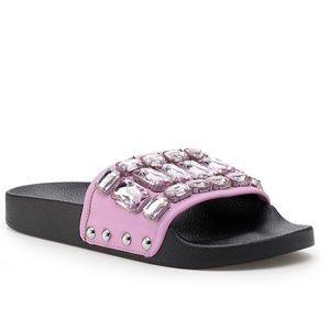 Botkier jeweled slide sandals